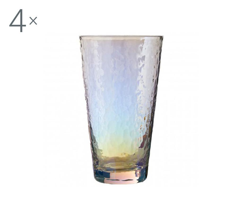 Set 4 pahare Aurora Gradient Highball 445 ml - Premier, Multicolor