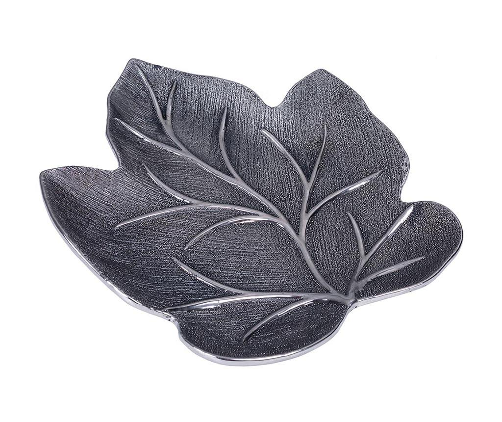 Platou decorativ Black Leaf imagine