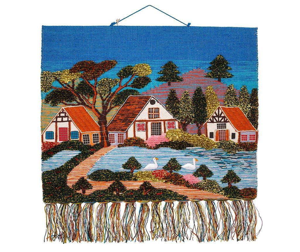 Decoratiune de perete Little Houses - Creaciones Meng, Multicolor imagine vivre.ro