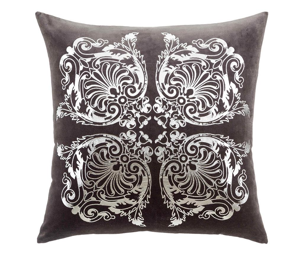 Perna decorativa Derick 60x60 cm - Ixia, Gri & Argintiu imagine