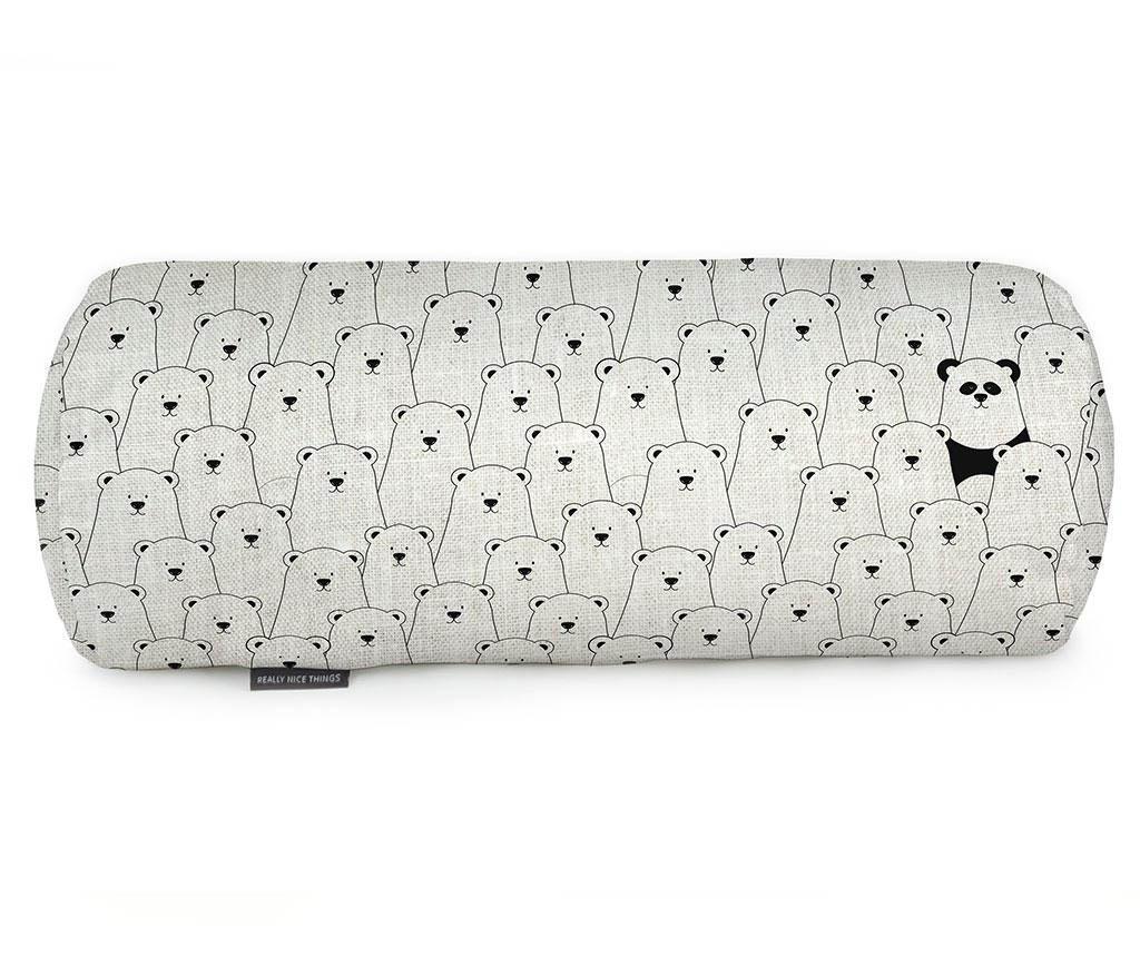 Perna decorativa Panda in an Ice Bear World 20x50 cm imagine