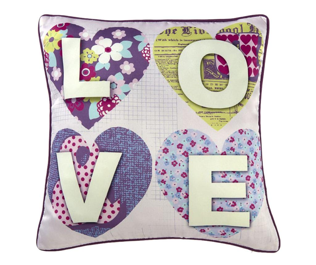 Perna decorativa Patchwork Love Life 45x45 cm imagine