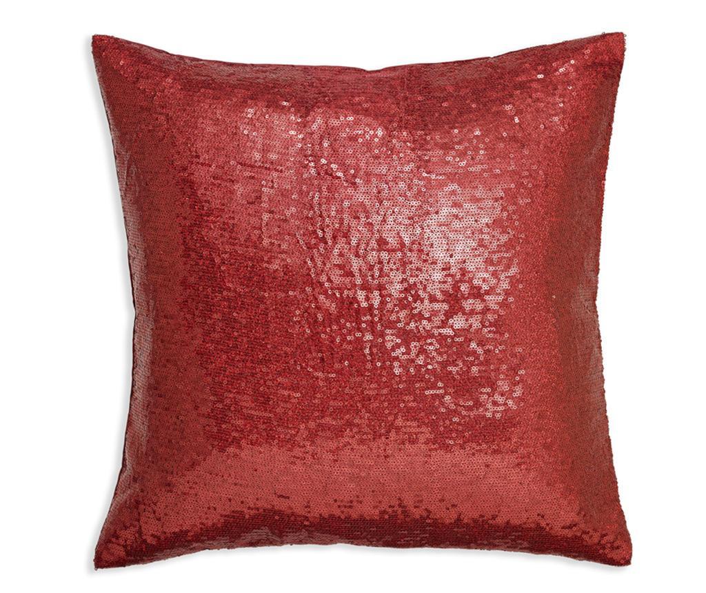 Perna decorativa Red Sequin 43x43 cm imagine
