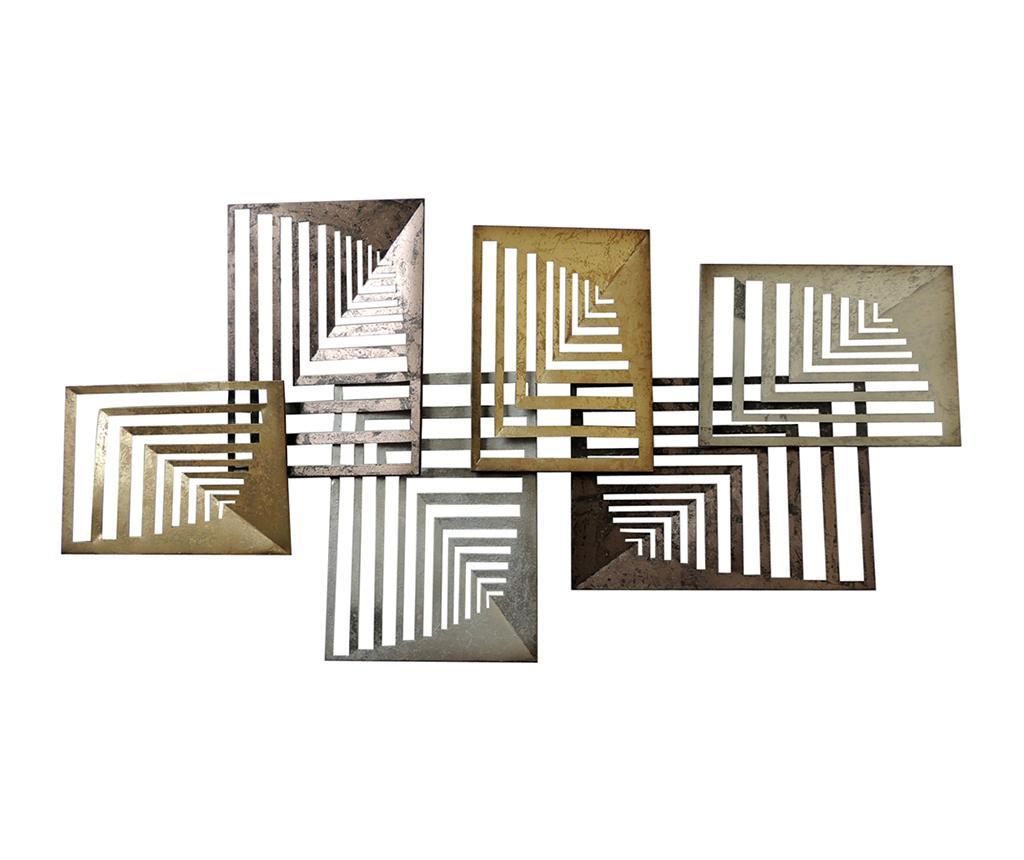 Decoratiune de perete Latova - Socadis, Gri & Argintiu imagine