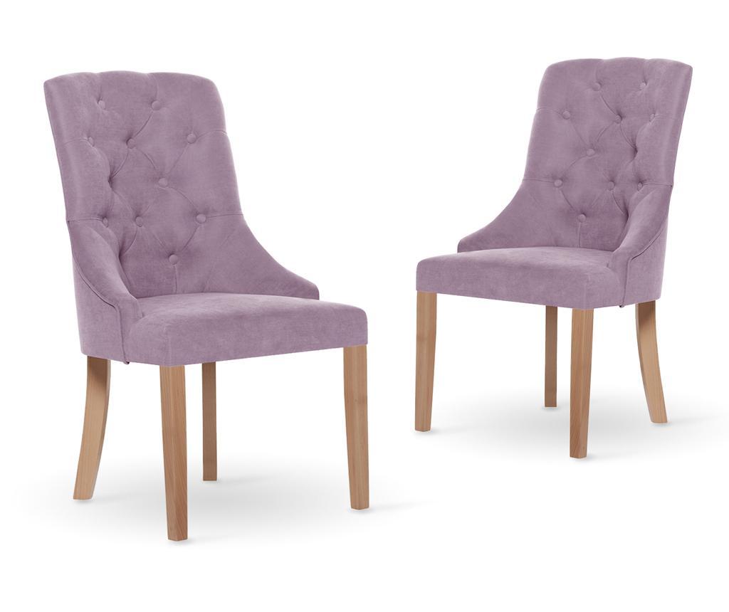 Set 2 scaune Jalouse Maison Chiara Lilac - Jalouse Maison, Mov vivre.ro