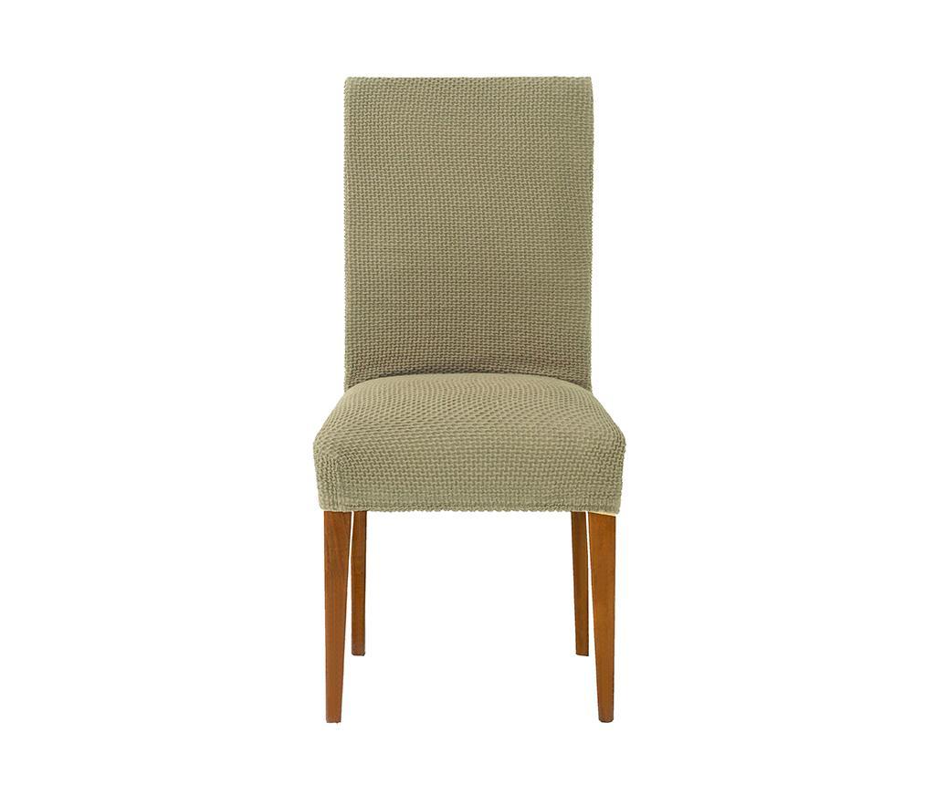 Husa elastica pentru scaun Cora Back Linen 40-50 cm imagine
