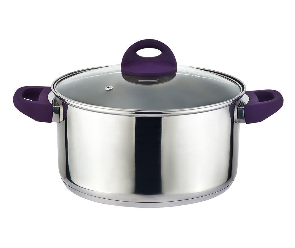 Cratita cu capac Adam Purple 4 L imagine