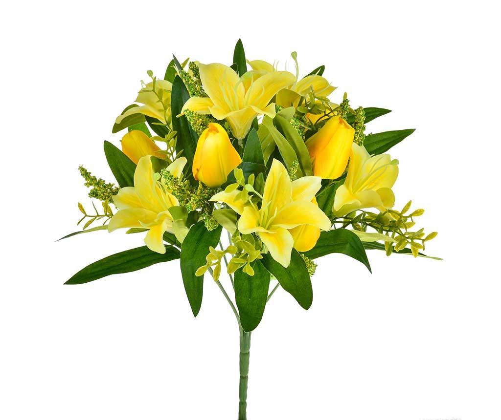 Buchet flori artificiale Tulipani Gigli Yellow