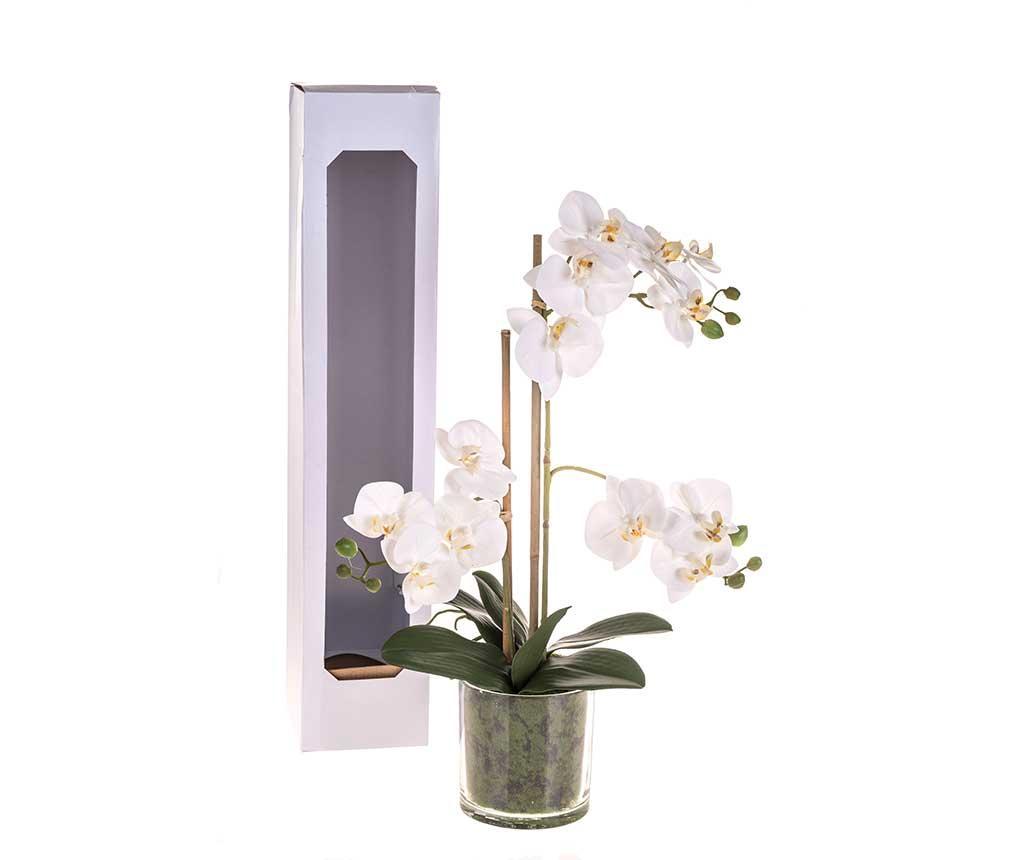 Floare artificiala in ghiveci Phalaenopsis White L imagine