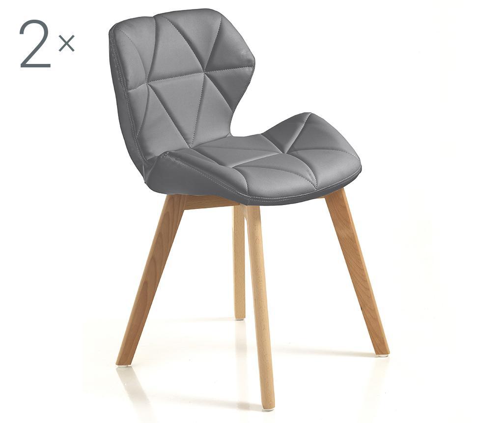Set 2 scaune New Kemi Grey vivre.ro