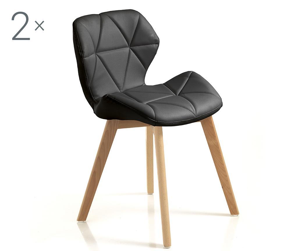 Set 2 scaune New Kemi Black - Tomasucci, Negru poza