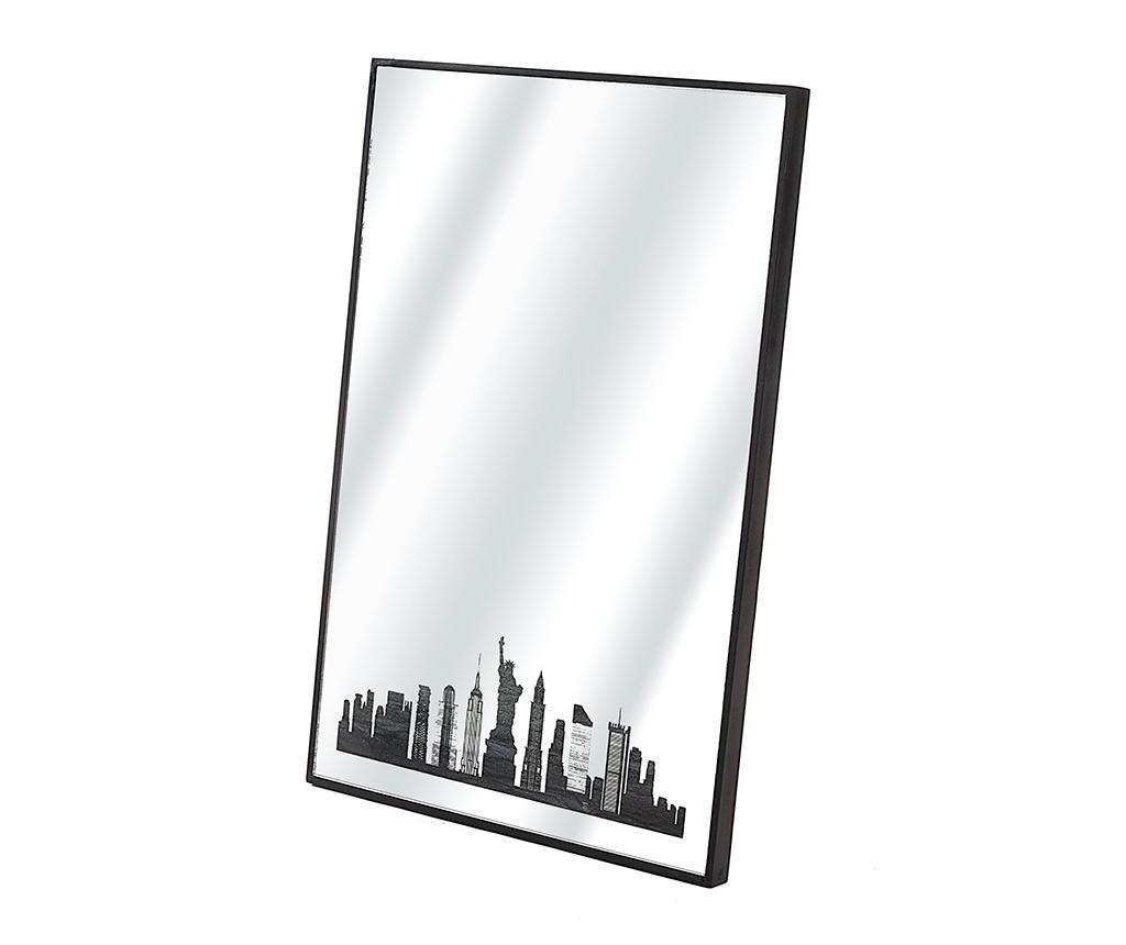 Oglinda New York Skyline - Disraeli, Negru poza