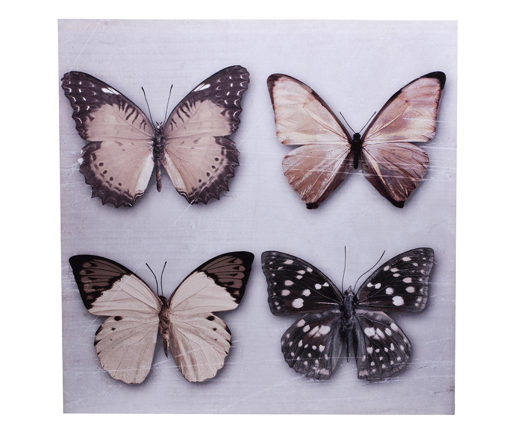 Tablou Butterflies 60×60 cm – EWAX, Multicolor