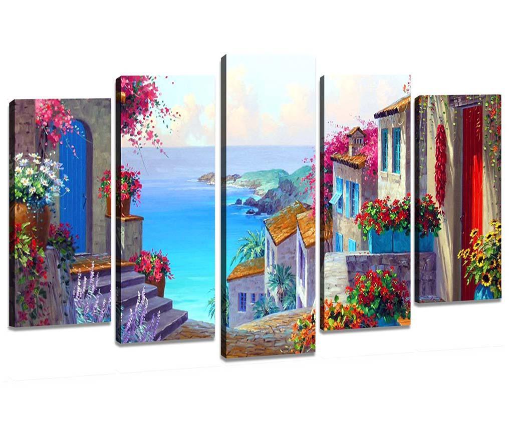 Set 5 tablouri Dolce Vita - Tablo Center, Multicolor imagine