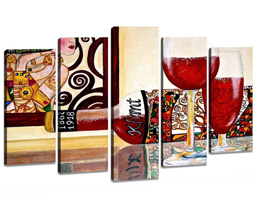 Set 5 tablouri 3D Red Wine