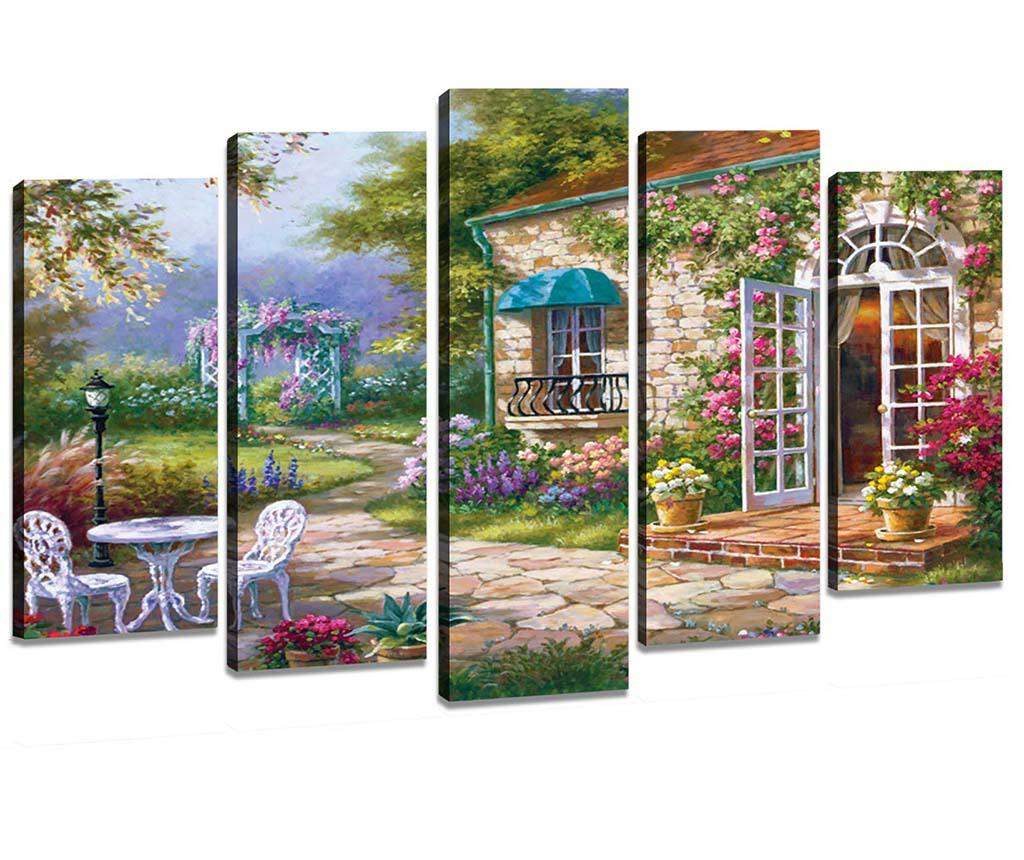 Set 5 tablouri Garden - Tablo Center, Multicolor imagine