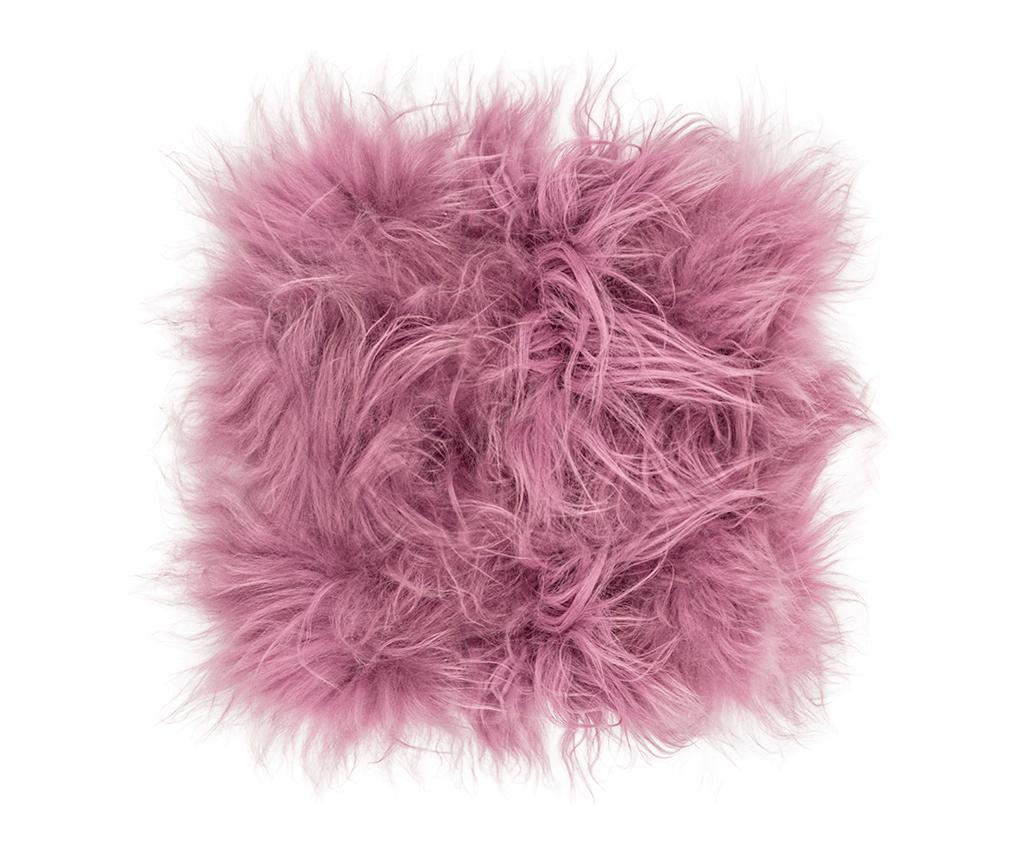 Perna de sezut Icelandic Dusty Rose 37x37 cm - Arctic Fur, Roz imagine