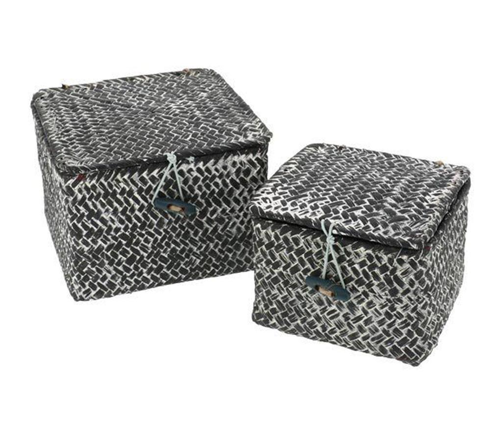 Set 2 cosuri cu capac Tresor Grey - Compactor, Gri & Argintiu imagine