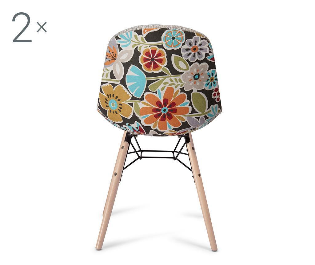 Set 2 scaune Sun Grey and Red - Furnhouse, Gri & Argintiu,Maro imagine
