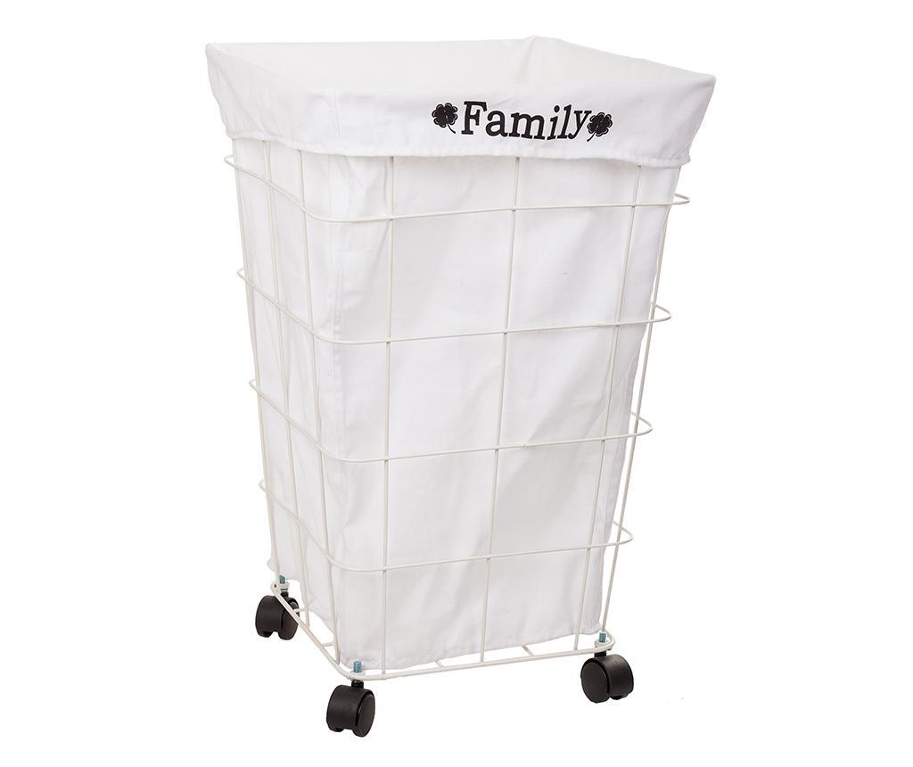 Cos pentru rufe Family - Creaciones Meng, Alb poza