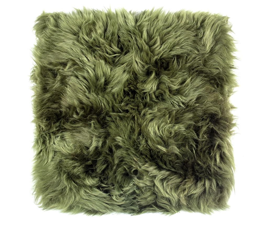 Perna de sezut Fluffy Green 40x40 cm imagine