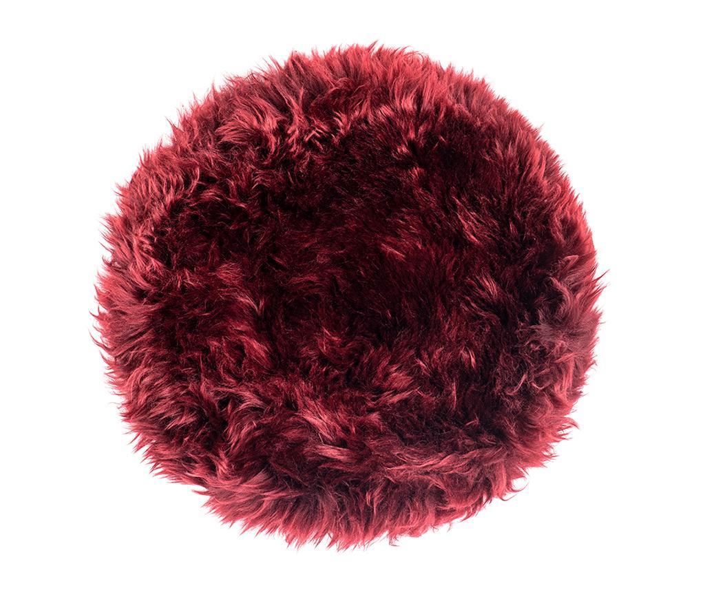 Perna de sezut Fluffy Round Red 35 cm - Royal Dream, Rosu