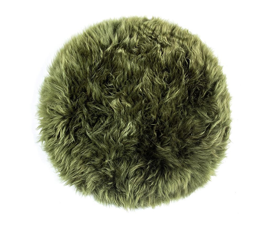 Perna de sezut Fluffy Round Green 35 cm - Royal Dream, Verde