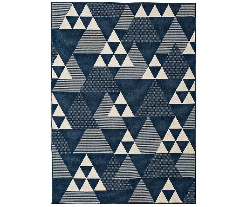 Covor Clhoe Triangle 140x200 cm - Universal XXI, Albastru imagine