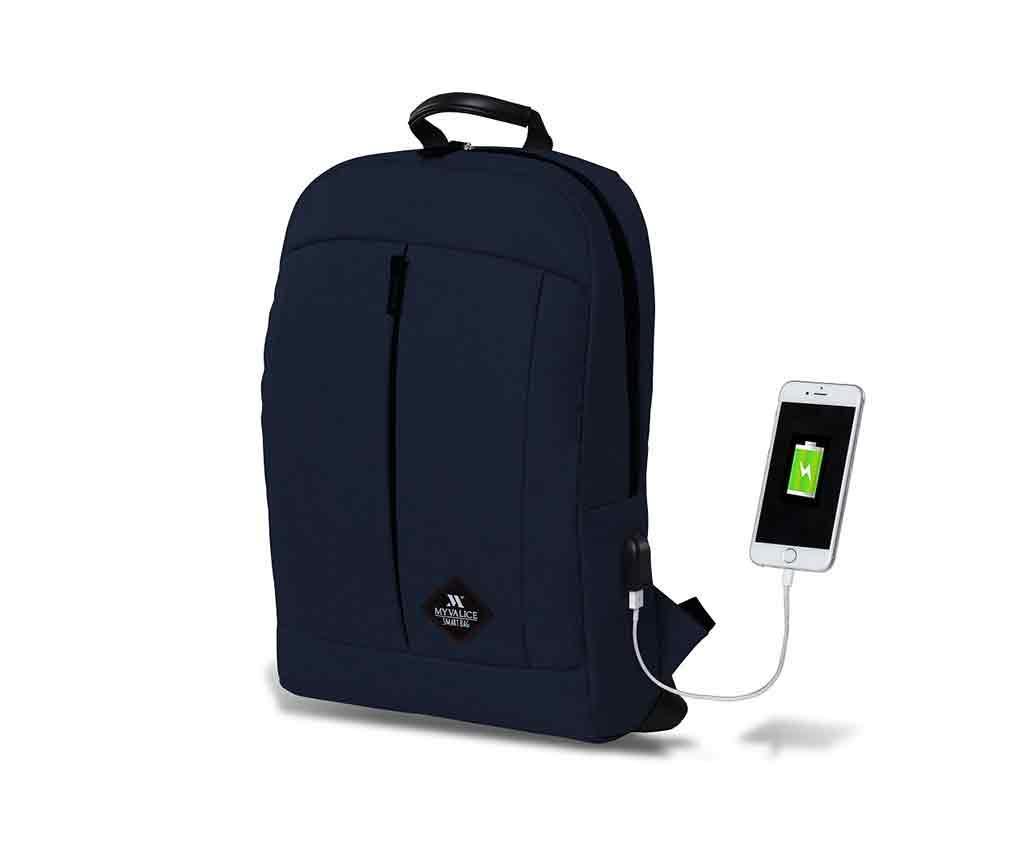 Rucsac USB Yosit Dark Blue - MyValice, Albastru imagine