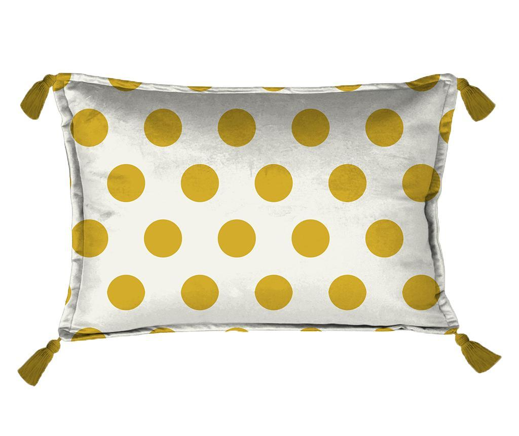 Perna decorativa Golden Dots 35x50 cm - Really Nice Things, Alb poza