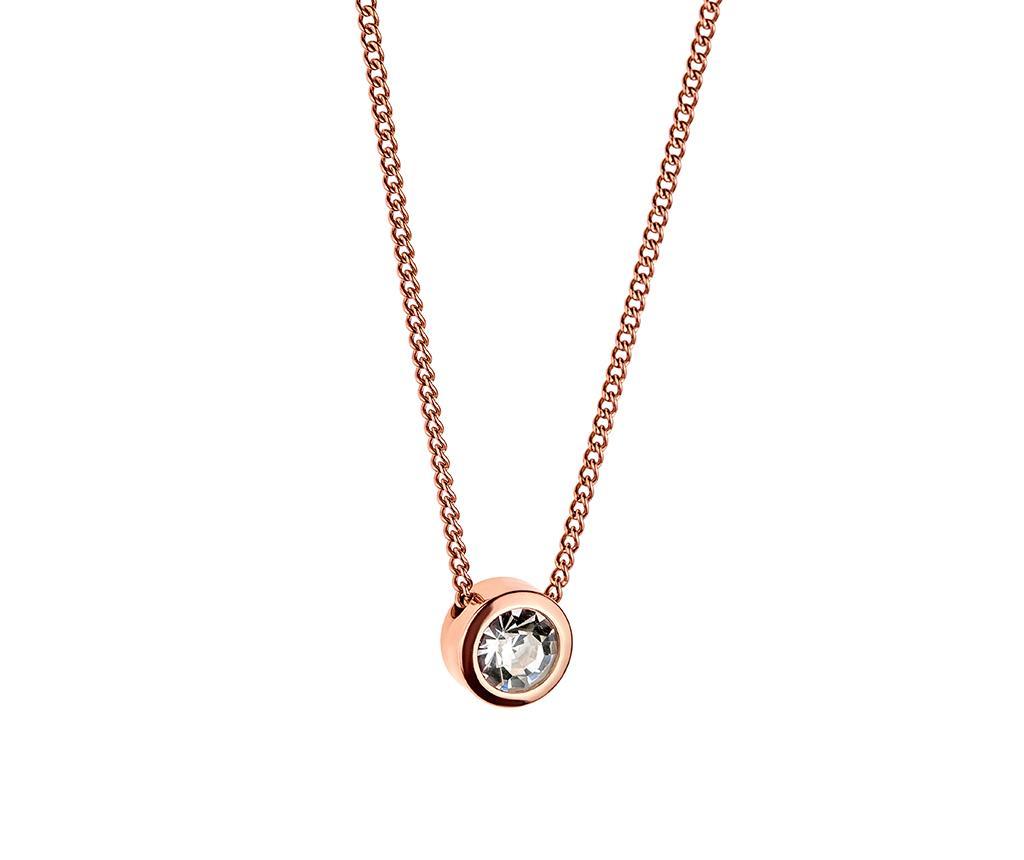 Lantisor cu pandantiv Bright Crystal Rose Gold imagine
