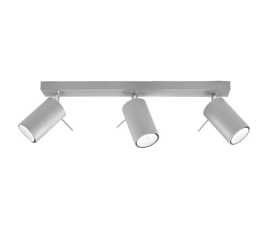 Plafoniera Etna Three Grey - Nice Lamps, Gri & Argintiu poza
