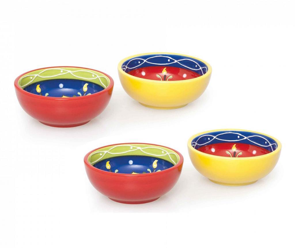 Set 4 boluri Tex Mex - Excelsa, Multicolor imagine