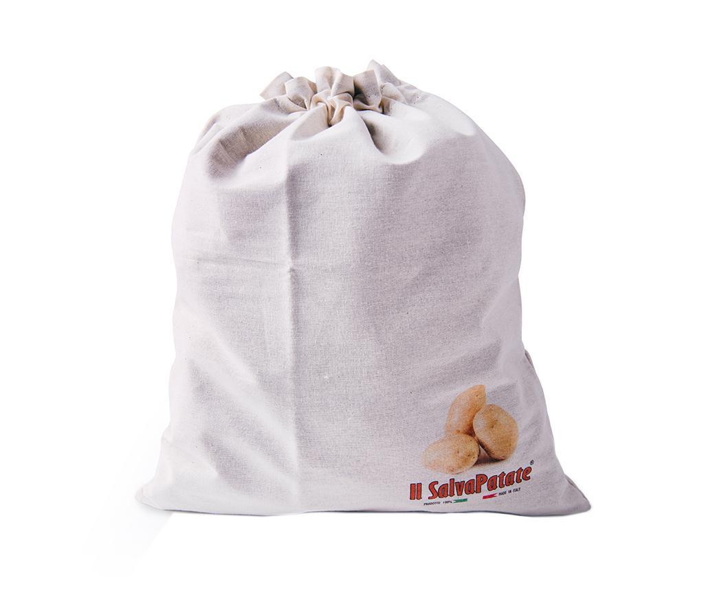 Saculet pentru cartofi Porta Patate - Excelsa, Alb poza