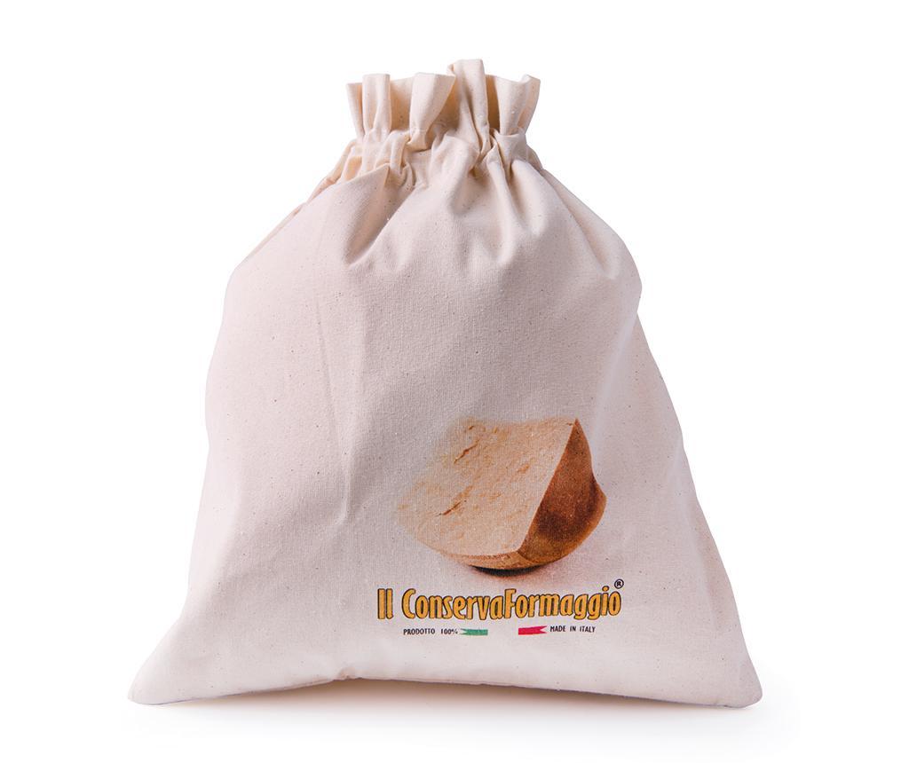Saculet pentru cascaval Porta Formaggio - Excelsa, Crem imagine
