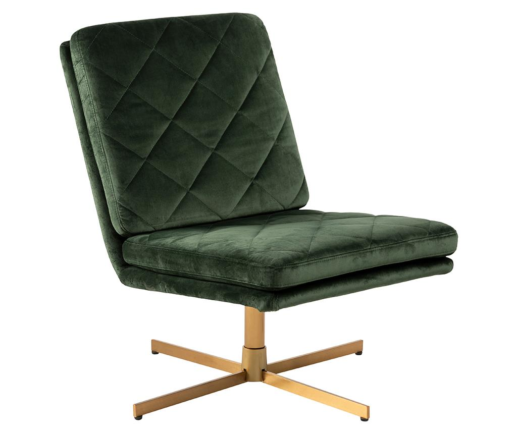 Scaun rotativ Carrera Dark Green - actona, Verde imagine