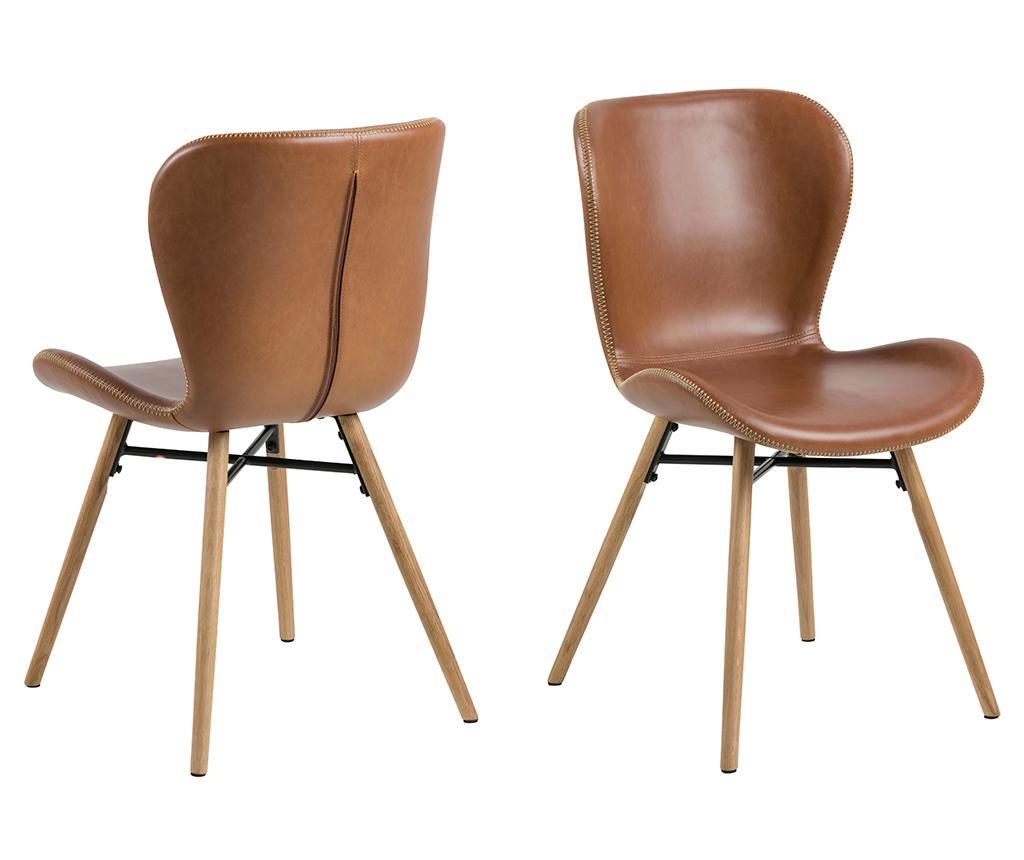 Set 2 scaune Batilda Brown - actona, Maro imagine