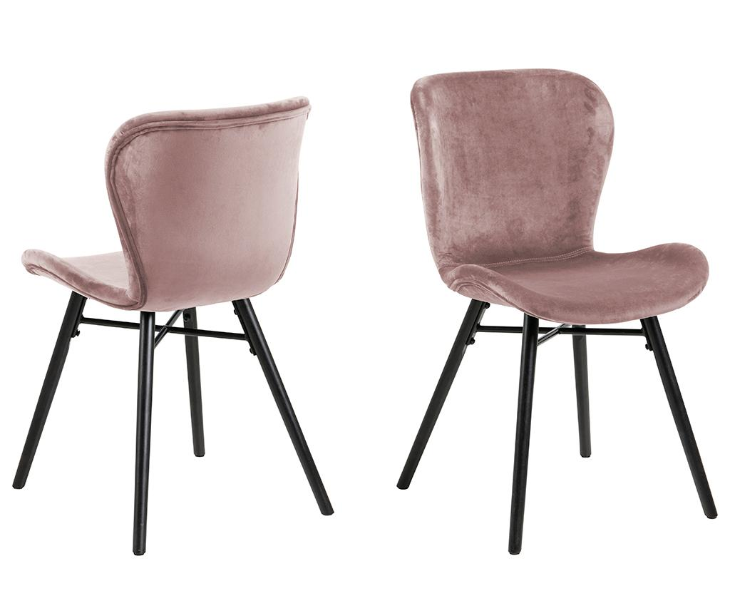 Set 2 scaune Batilda Velvet Grey vivre.ro