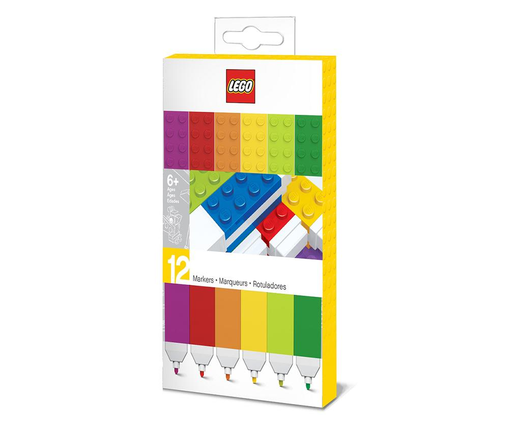 Set 12 markere colorate Lego Rainbow imagine