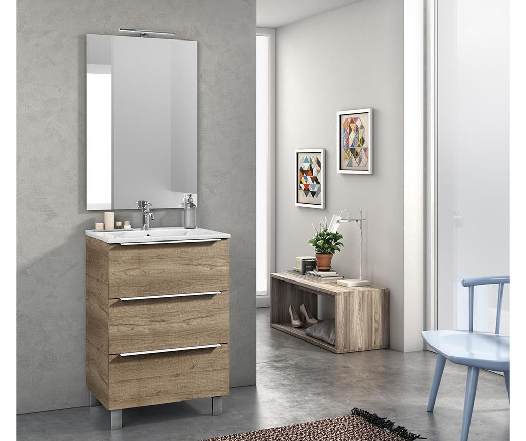 Set mobilier pentru baie 4 piese Malmo Brown imagine