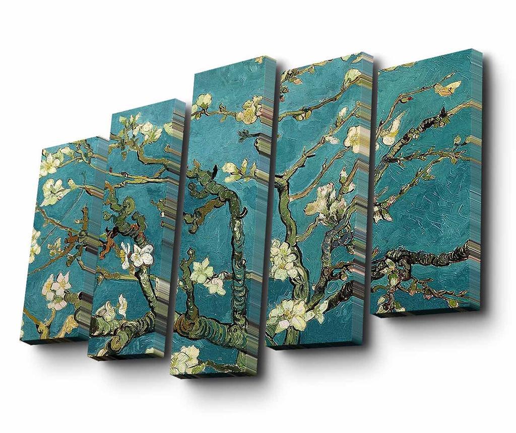 Set 5 tablouri Almond Blossom