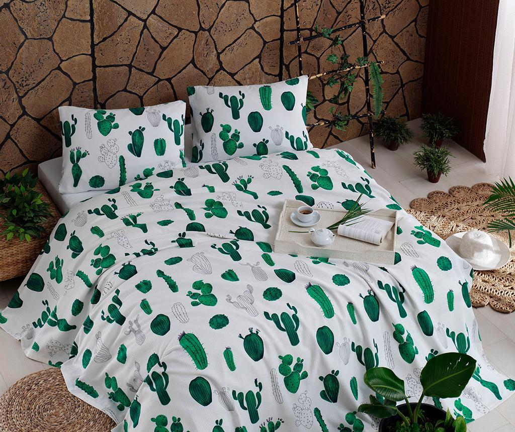 Lenjerie de pat Double Pique Kaktus Green 200x235