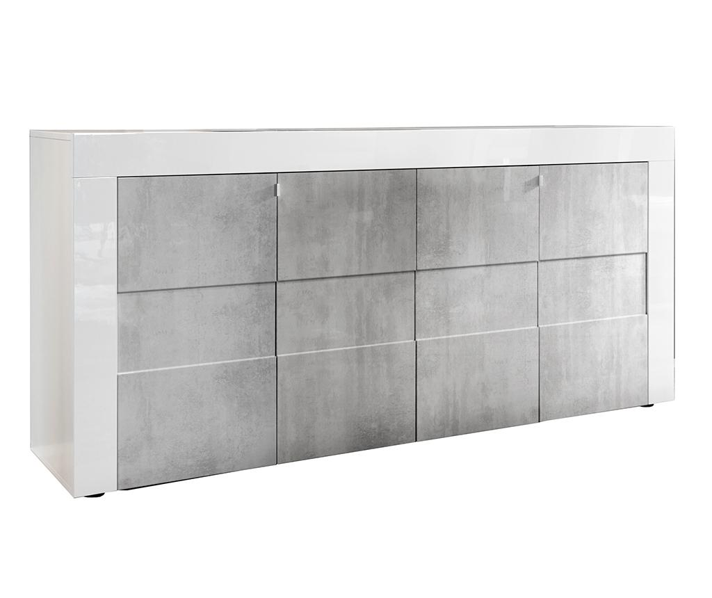 Bufet inferior Build Cem - TFT Home Furniture, Gri & Argintiu