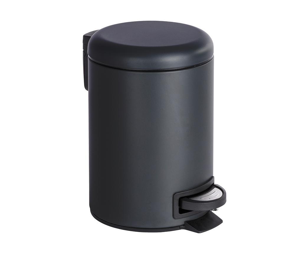 Cos de gunoi cu capac si pedala Leman Black 3 L imagine