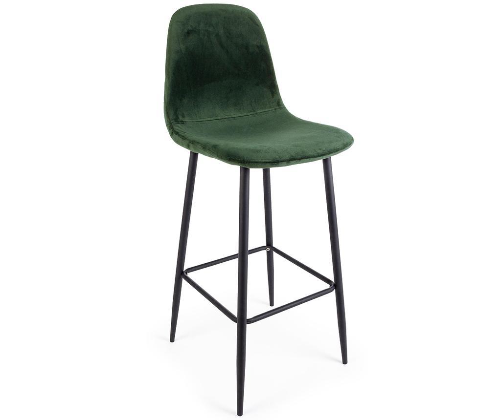 Barová židle Irelia Velvet Green