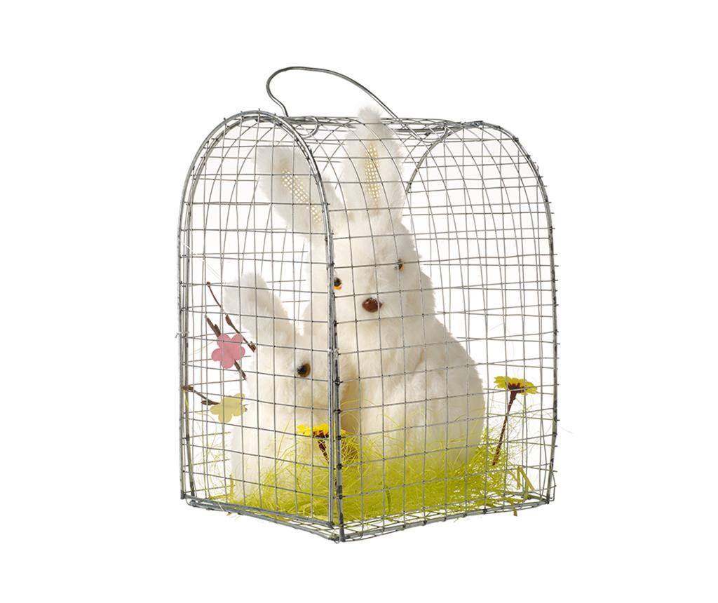 Decoratiune Two Rabbits Cage imagine