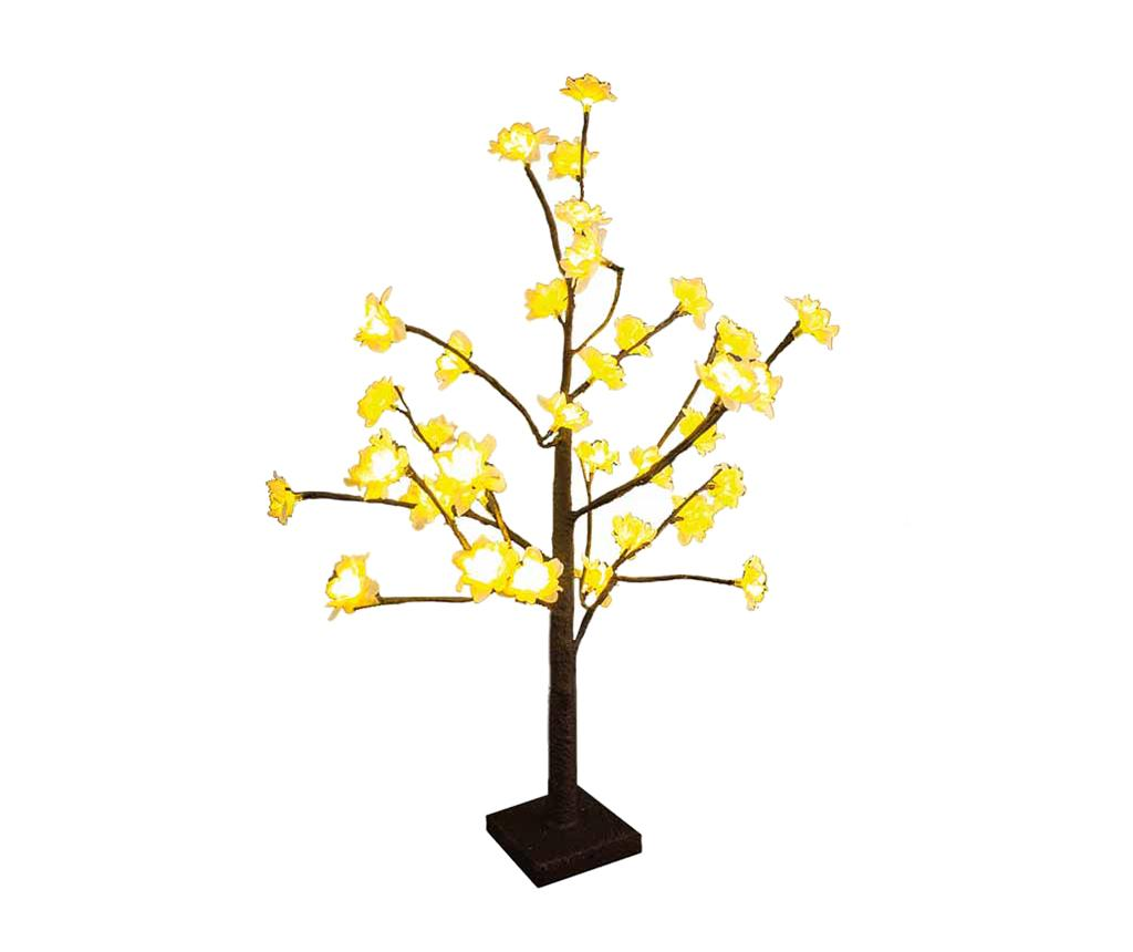 Decoratiune luminoasa Cherry Blossom Tree - Heaven Sends, Galben & Auriu vivre.ro