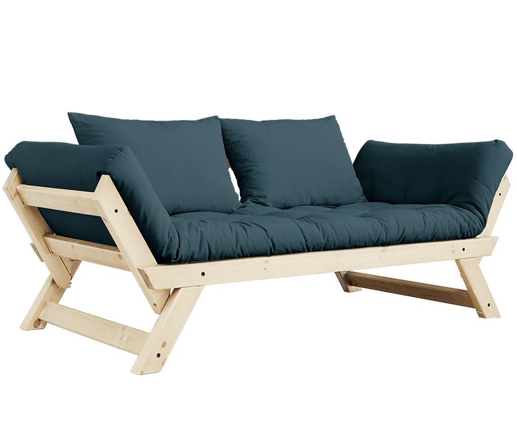 Sofa extensibila Bebop Natural & Petrol Blue - Karup Design, Albastru imagine