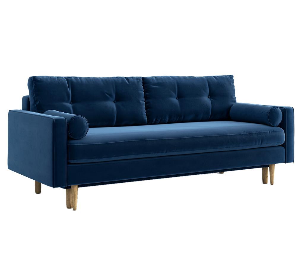 Canapea extensibila 3 locuri Esme Riviera Blue vivre.ro