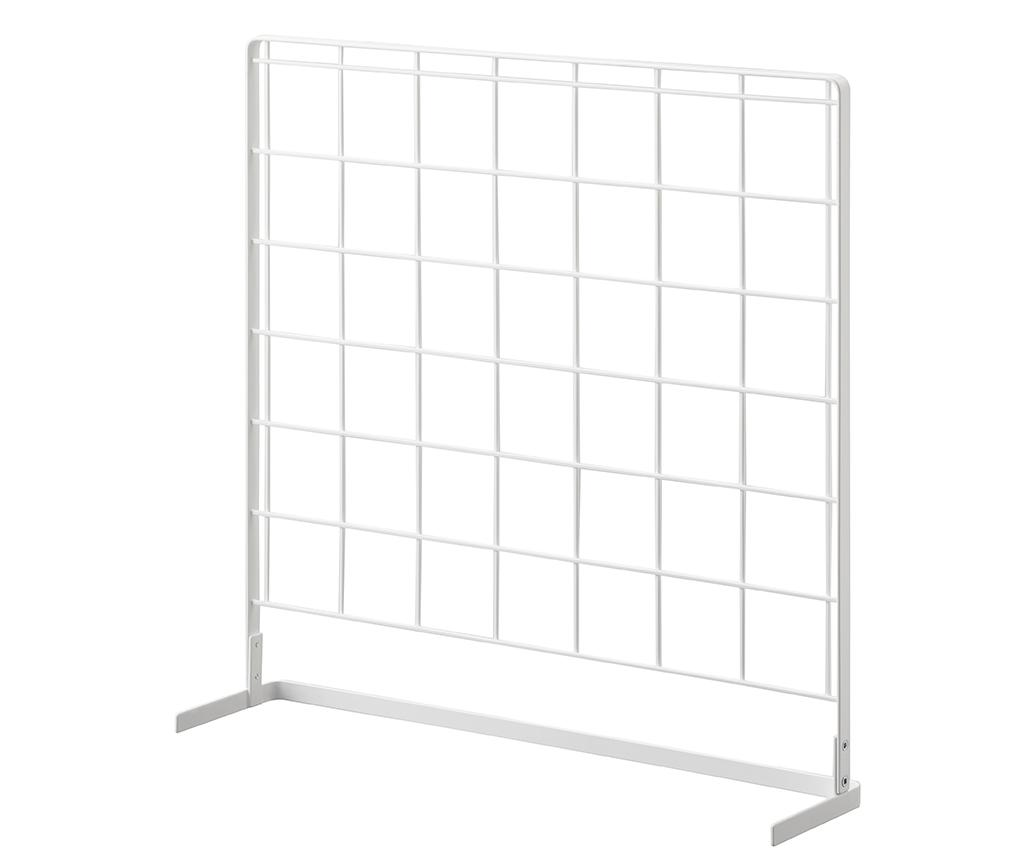 Suport pentru ustensile de bucatarie Tower Grid Panel - Yamazaki, Alb